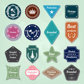 Set of badges and labels logo — Stock Vector