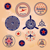 Air badges and labels — Stok Vektör