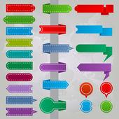 Verzameling van kleurrijke lint icons — Stockvector