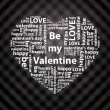 Heart made of valentine greetings — Imagen vectorial