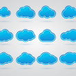 Collection of Blue clouds — Stock Vector