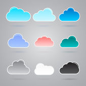 Collection of different clouds — Stock Vector