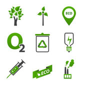 Set of ecology icons — Vector de stock