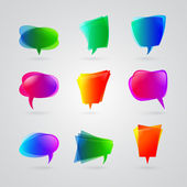 Colorful speech bubbles — Stock Vector