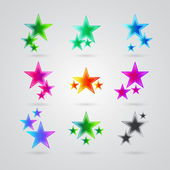 Set of colorful stars — Stock Vector