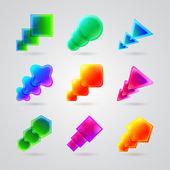 коллекция фигур разного цвета — Cтоковый вектор