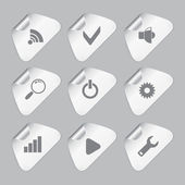 Editor tools icon set — Stock Vector