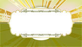 Style frame with the rays in the background — Stock Vector