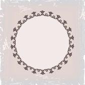 фон круглая цветочная рамка ретро — Cтоковый вектор