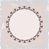 Background of round floral vintage frame — Stock Vector