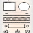 Set of abstract frame pattern - Stock Vector
