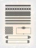 Set of abstract victorian pattern — Stock Vector