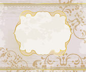 Lucid gold frame background — Stock Vector