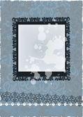 Vintage frame on floral background — ストックベクタ