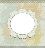 Vintage round frame on gray background — Stock Vector