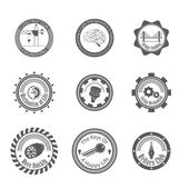 Set of different gray icons — Stock Vector