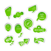 Eco green labels collection — Stock Vector