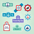 Set of sea travel company icons — Stock Vector #22753665
