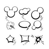 Set of comic style speech bubbles — Stock Vector