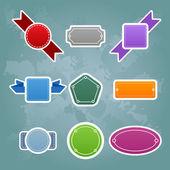 Zbiór ściśle kolorowy wzór etykiety — Wektor stockowy