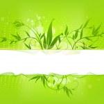 banner floral abstracto — Vector de stock
