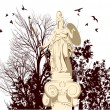 Royalty-Free Stock Vector Image: Beauty Athena statue