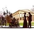 Royalty-Free Stock Vector Image: Couple in love in the park of Greece