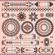 Collection of vintage floral pattern elements - Stockvektor