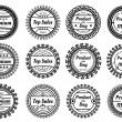 Different round labels - Stock Vector