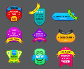 Collection of many authentic labels — Stock Vector