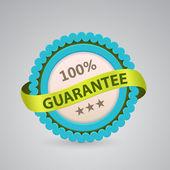 Single label of guarantee — Stock Vector