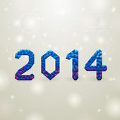 Blue 2014 christmas backgorund — Stock Vector