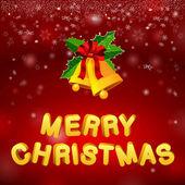 Bells merry christmas — Stock Vector