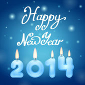 Candles 2014 Happy New Year — Vetorial Stock