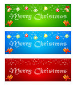 Merry Christmas banner on different backgrounds with elements of — Stock Vector