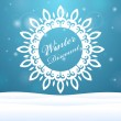 Winter sale Snowflake outdoors — Stock Vector