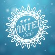 Winter sale Snowflake — Stock Vector