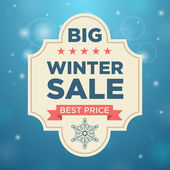 Plate winter sale and best price — Stock Vector