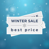 Winter sale and best price — Stock Vector