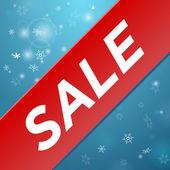 Winter sale big red ribbon — Stock Vector
