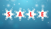 Winter sale four snowflake — Stock Vector