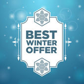 Best winter offer in beautiful frame — Stock Vector