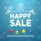 Happy Sale and Christmas Ball — Stock Vector