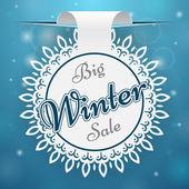 Paper price tag Big Winter Sale — Stock Vector