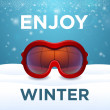 Постер, плакат: Enjoy winter outside red ski goggles