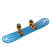Blue snowboard — Stock Vector