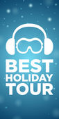 Best holiday tour on blue background — Stock Vector