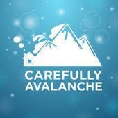 Carefully avalanche on house — Stock Vector