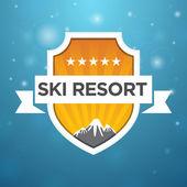 Logotype ski resort five star — Stock Vector