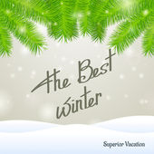 The best winter superior vacation — Stock Vector
